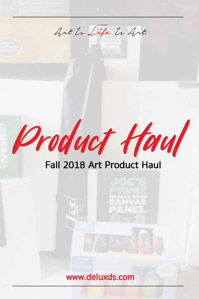 Fall 2018 Art Product Haul pinterest