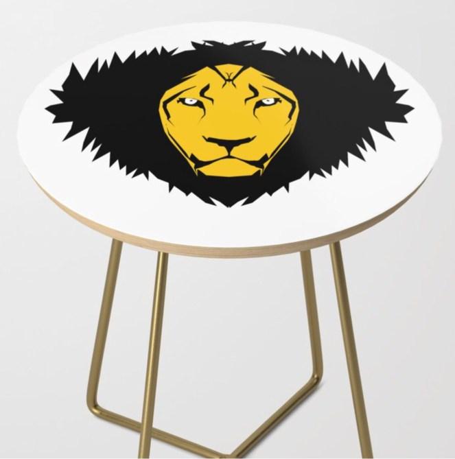 Leo Side Table designed by Visual Artist Keara Douglas of Delux Designs (DE), LLC