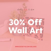 30% off Wall Art with Society6