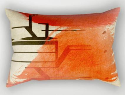 DE Rectangular Pillow designed by Visual Artist Keara Douglas of Delux Designs (DE), LLC