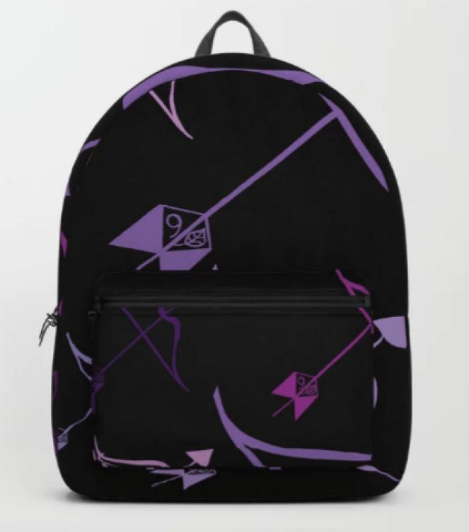 Sag Love Backpack designed by Visual Artist Keara Douglas of Delux Designs (DE), LLC in collaboration with Socieyt6