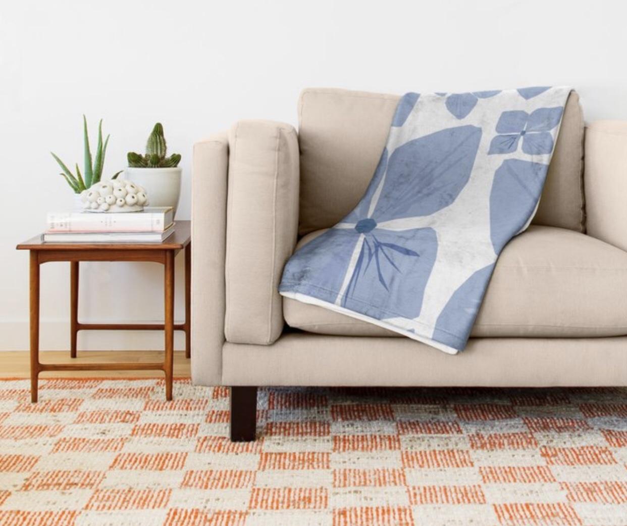 Hydrangea Love Throw Blanket