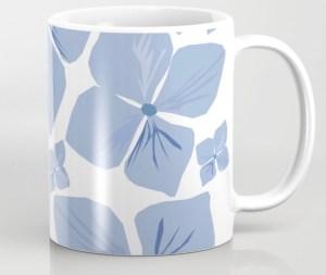 Hydrangea Love Coffee Mug designed by Visual Artist Keara Douglas of Delux Designs (DE), LLC