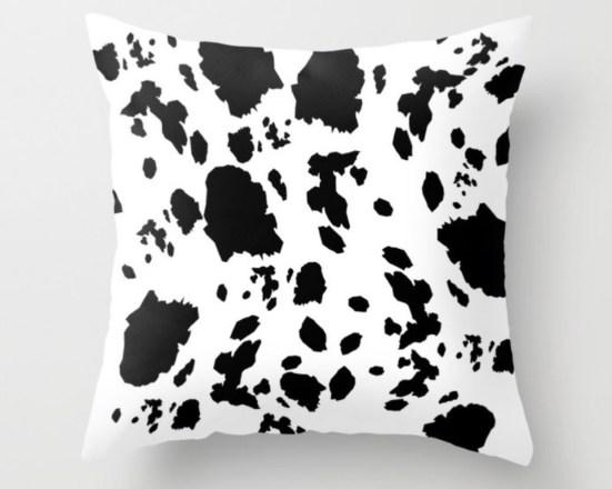 Cow Love Throw Pillow designed by Visual Artist Keara Douglas of Delux Designs (DE), LLC