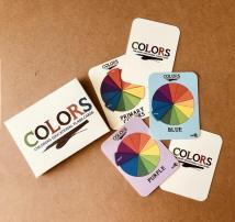 COLORS Flashcards created by Visual Artist Keara Douglas of Delux Designs (DE), LLC.