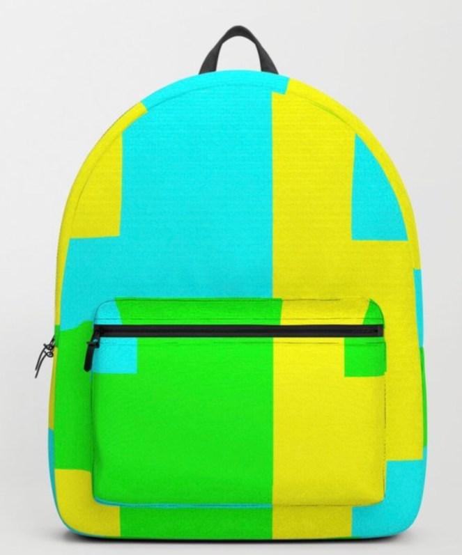 Summer Square Bookbag designed by Visual Artist Keara Douglas of Delux Designs (DE), LLC.
