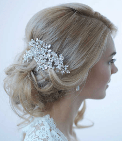 barrettes the traditional wedding hair
