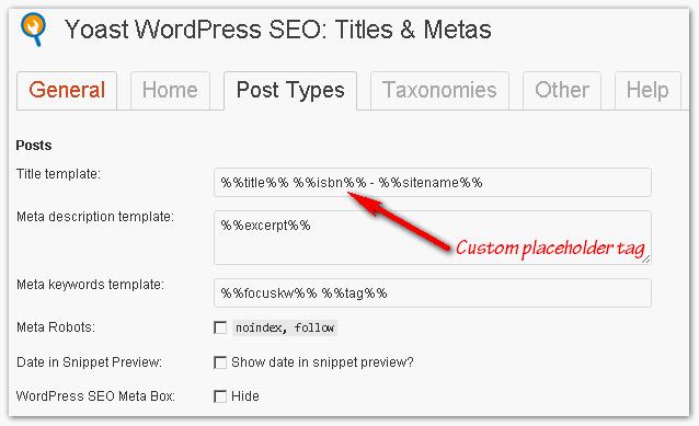 Custom placeholder tag