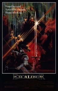 Excalibur_movie_poster top ten sword and sorcery movies