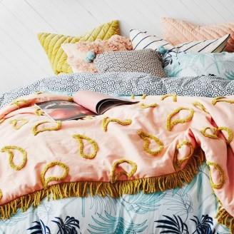 Primrose Paisley Tufted Blanket from ShutTheFrontDoor $299.00