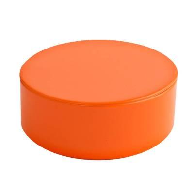rond blikje oranje