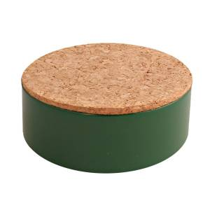 rond blikje kurk donker groen