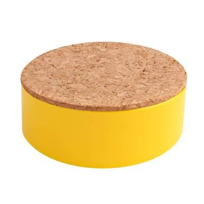rond blikje kurk geel