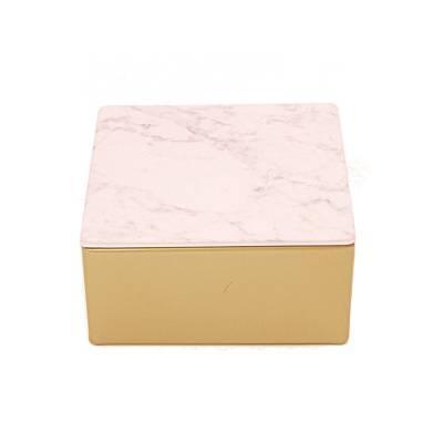 vierkant goud marmer roze