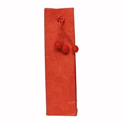 hoog zakje lokta pompon rood