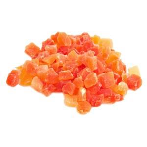 Fruitblokjes papaya rood