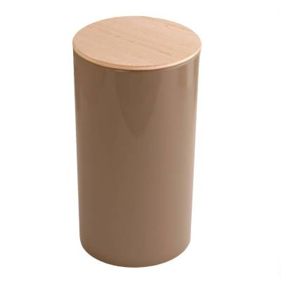 rond hoog hout taupe