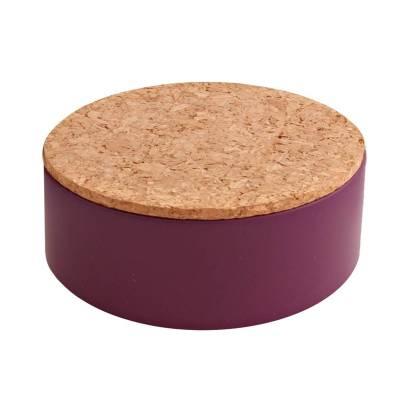 rond blikje kurk violet