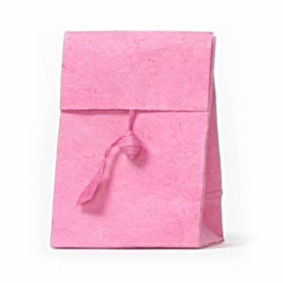 laag zakje lokta knoopje roze