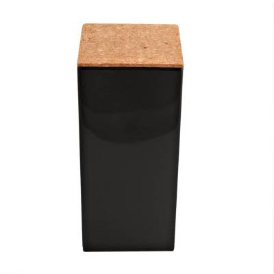 vierkant hoog kurk zwart