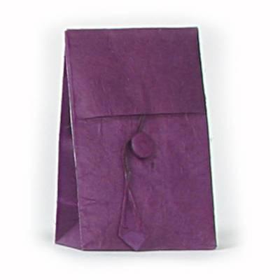 laag zakje lokta knoopje violet