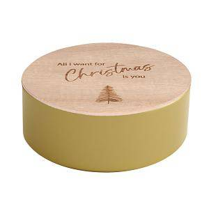 rond blikje gravure kerstliedjes all i want for...