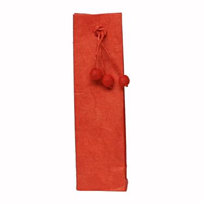 hoog zakje pompon rood
