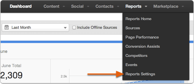 Hubspot reportsettings