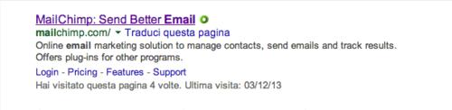 Mailchimp link