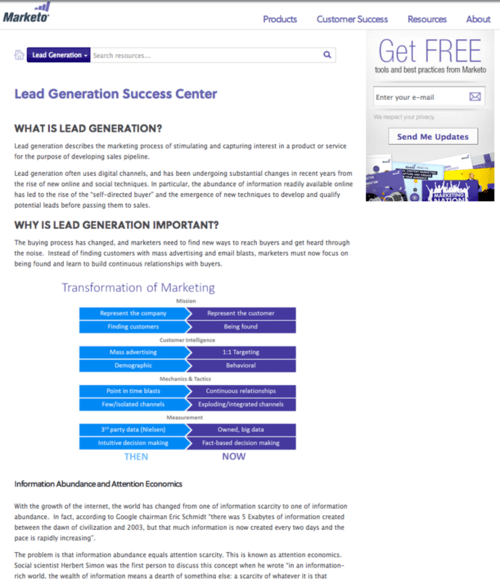 Marketo - Lead generation