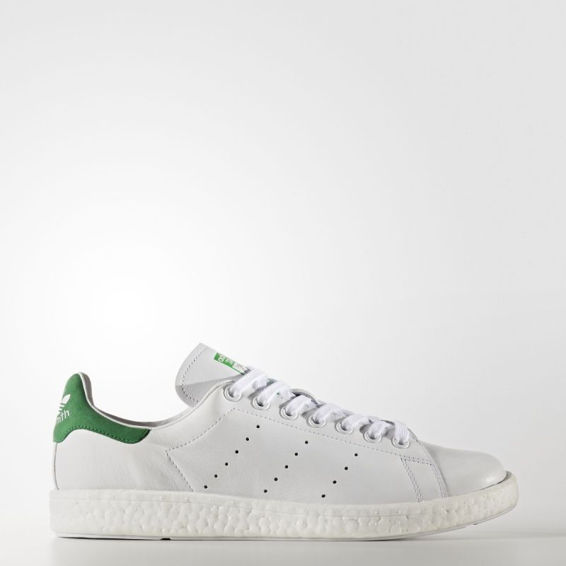 Adidas Stan Smith Boost Shoes Running White Ftw Running White Ftw Green Bb