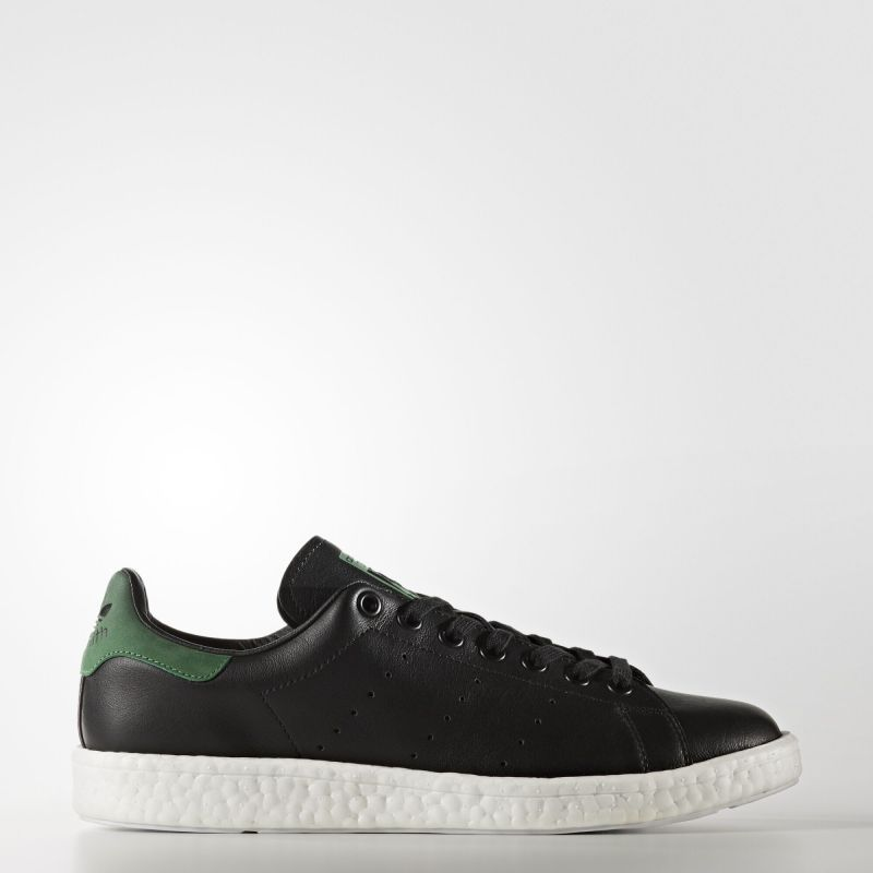 Adidas Stan Smith Boost Shoes Core Black Core Black Green Bb
