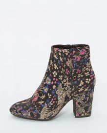 Boots brodées noir