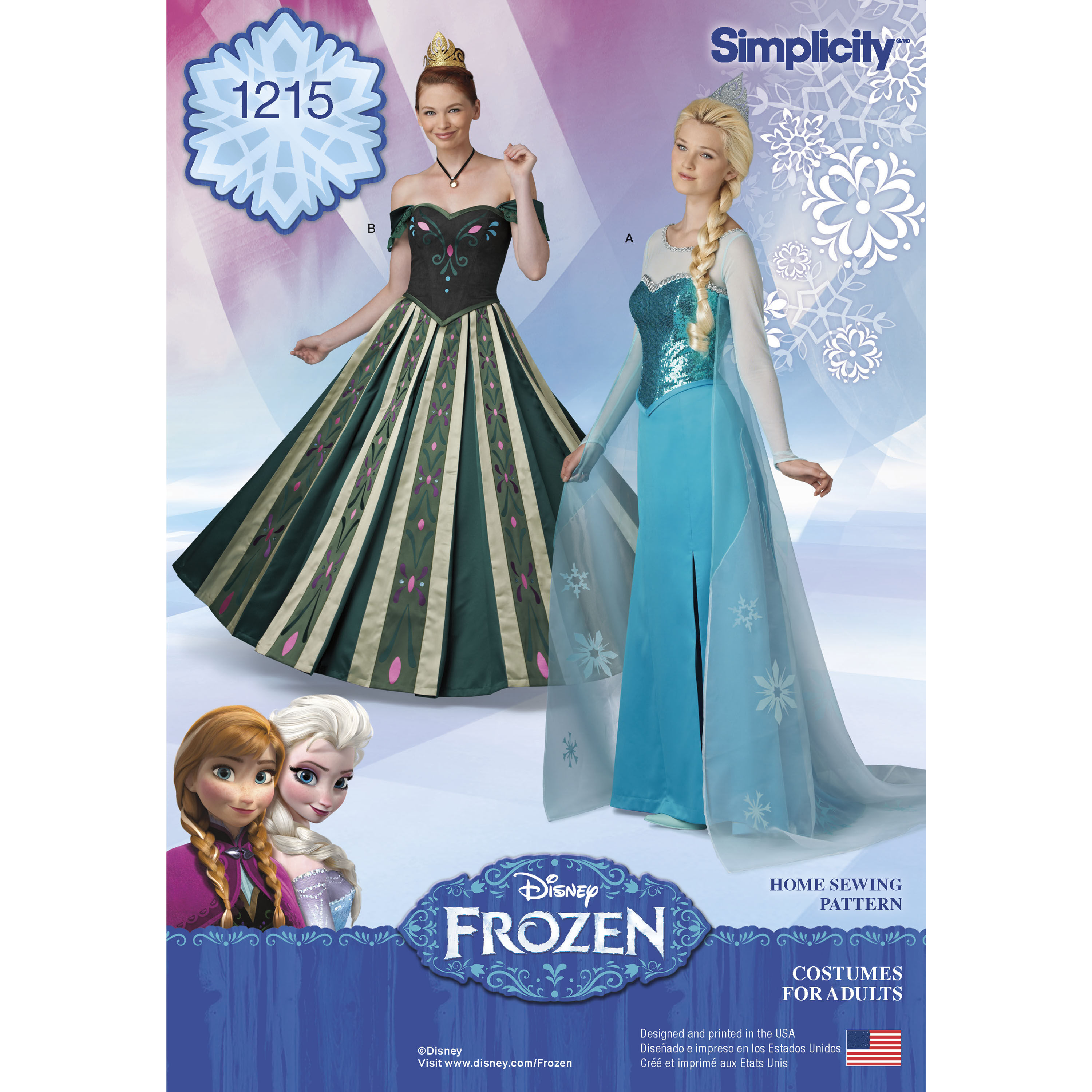 Pattern For Misses Frozen Costumes Simplicity