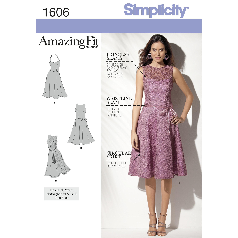 Simplicity Pattern 1606 Misses' & Miss Petite Amazing Fit Dress
