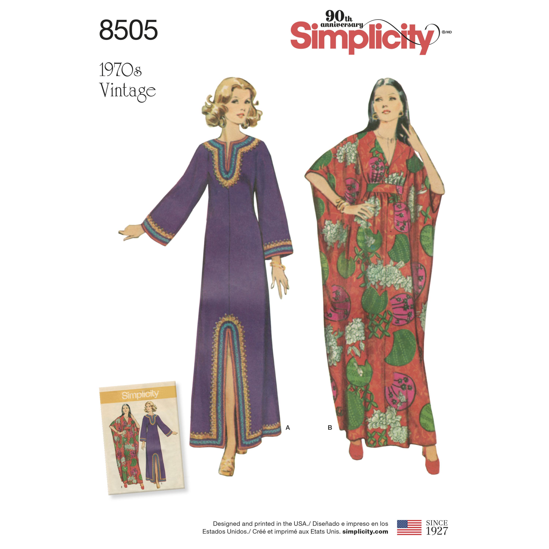 Simplicity Pattern 8505 Misses' Vintage Caftans
