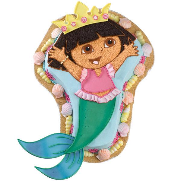 A Dora Ble Mermaid Cake Wilton