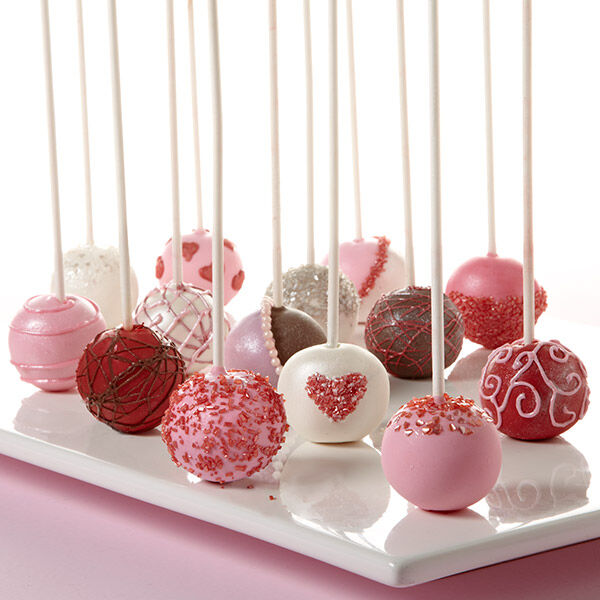 Valentines Day Cake Ball Pops Wilton