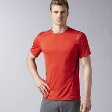 Reebok Mens Workout Ready Tech Tee in Riot Red Size M - Training Apparel