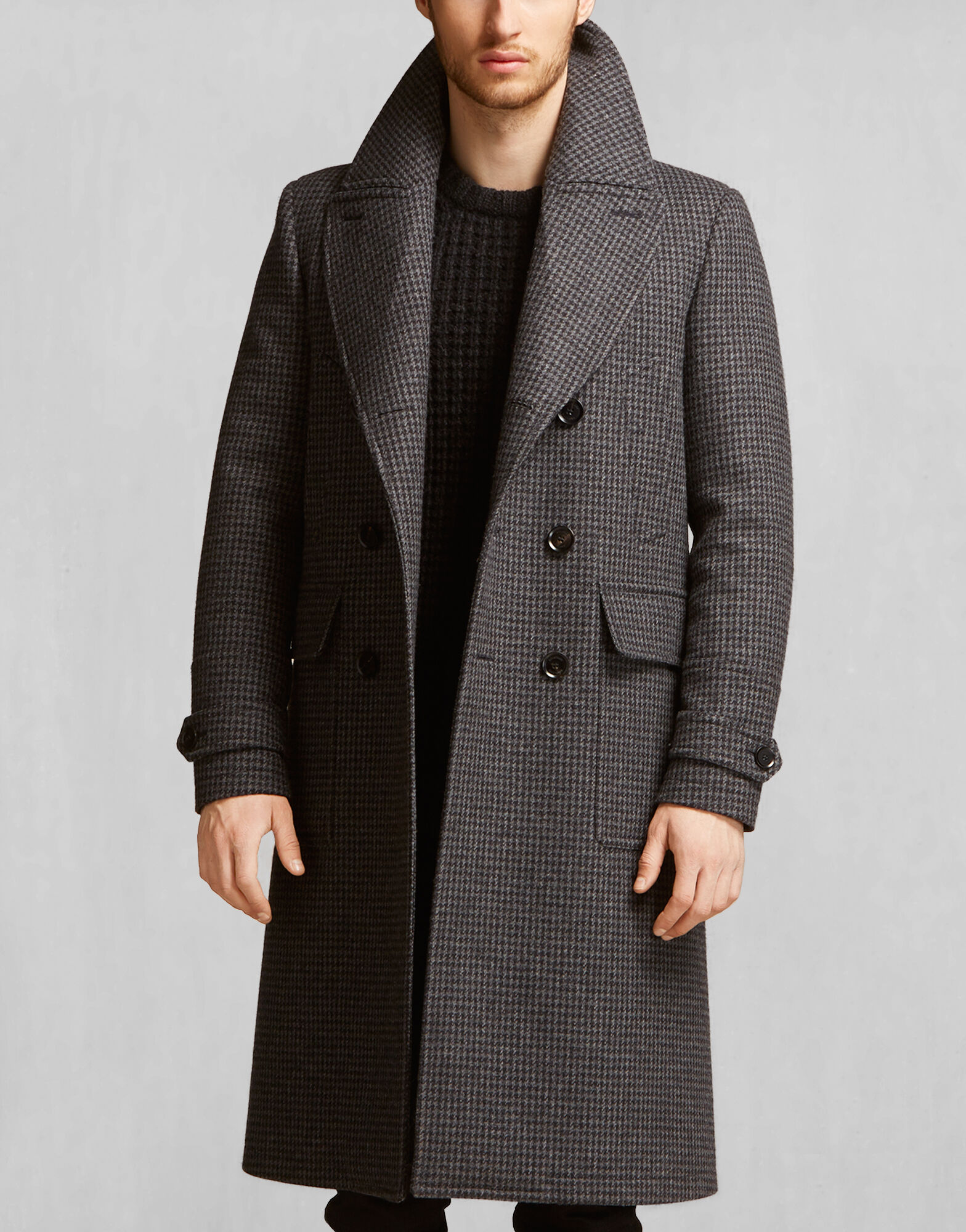 Black Wool Coats - Belstaff
