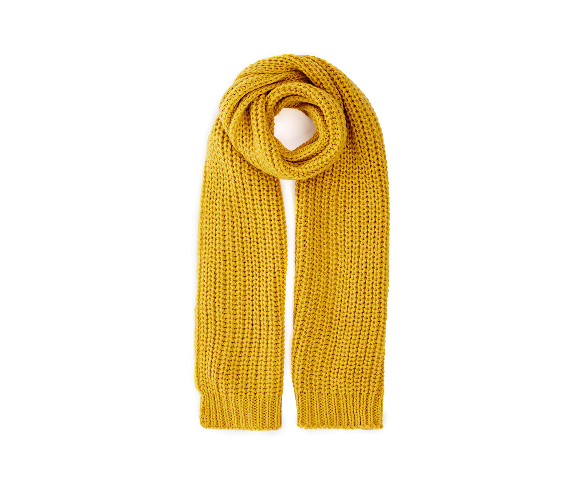 Oasis, JENNY CHUNKY KNIT SCARF Bright Yellow 0