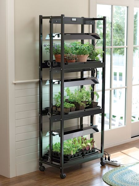 indoor gardening lights Stack-n-Grow Light System Shelf Height Extender