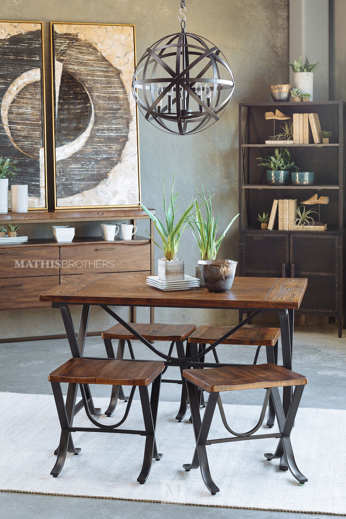 5 Piece Dining Set By Ashley Mathis Brothers