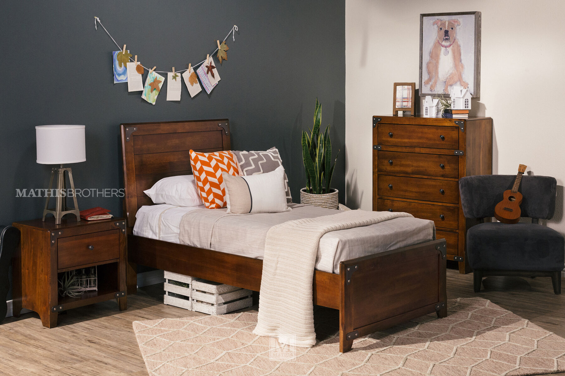 Ashley Delburne Panel Bed Mathis Brothers Furniture