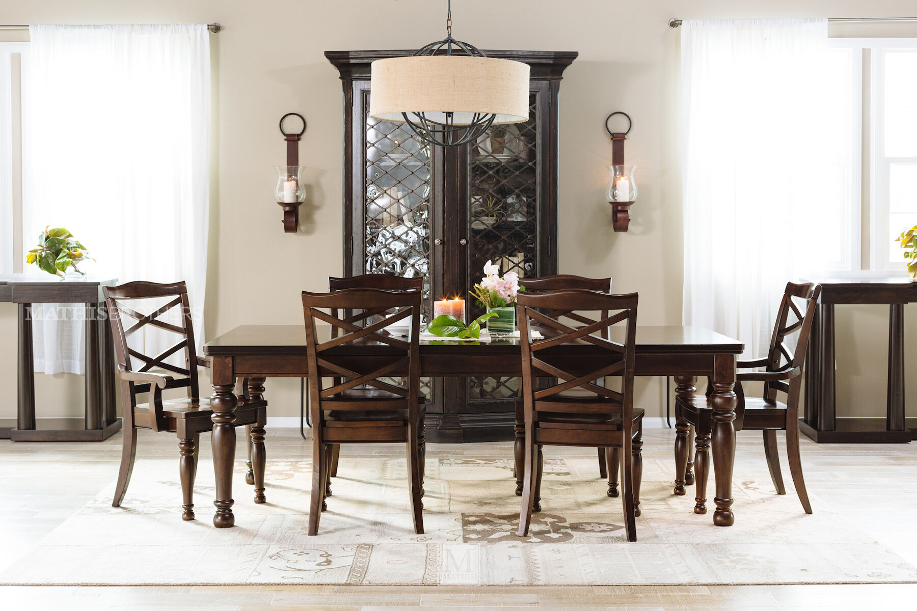 Ashley Porter Five Piece Dining Set Mathis Brothers