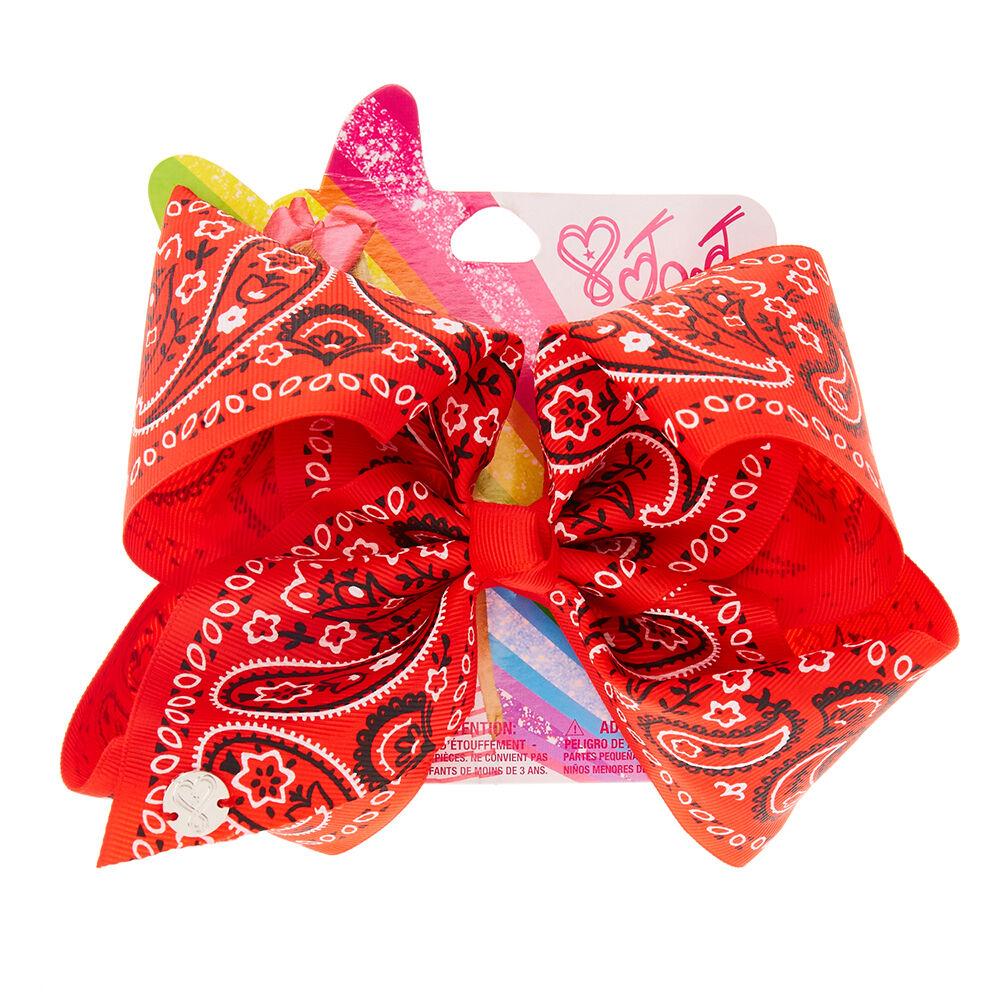 JoJo Siwa Large Red Bandana Print Hair Bow Claires