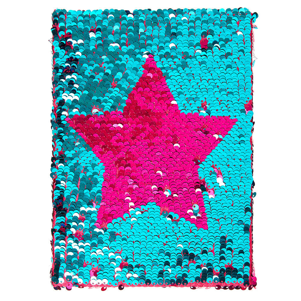 Reversible Pink And Mint Sequin Star Notebook Claires