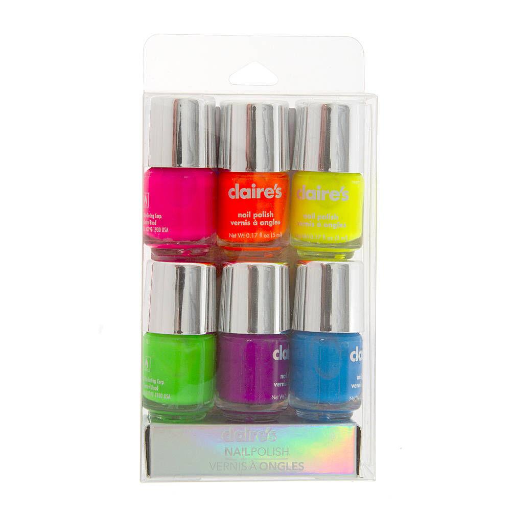 Neon Nail Polish Pack 5
