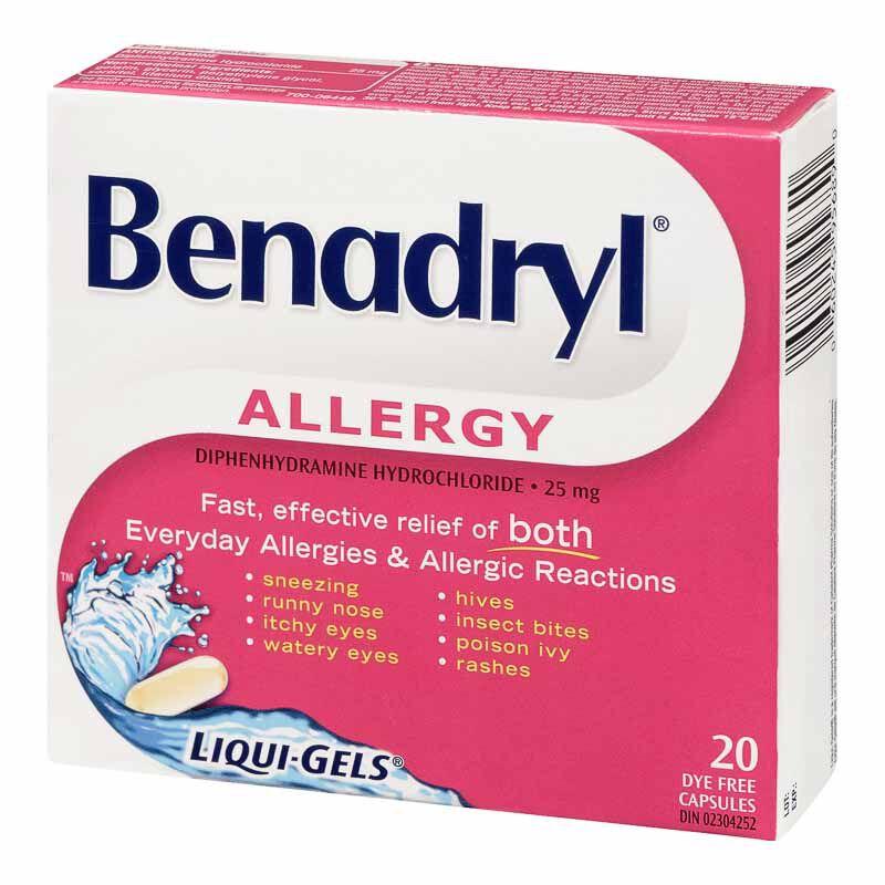 Benadryl Allergy Fast Acting Liqui-Gels - 25mg/20's | London Drugs