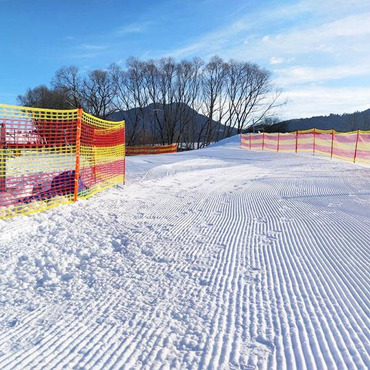 Oświetlona trasa do narciarstwa biegowego